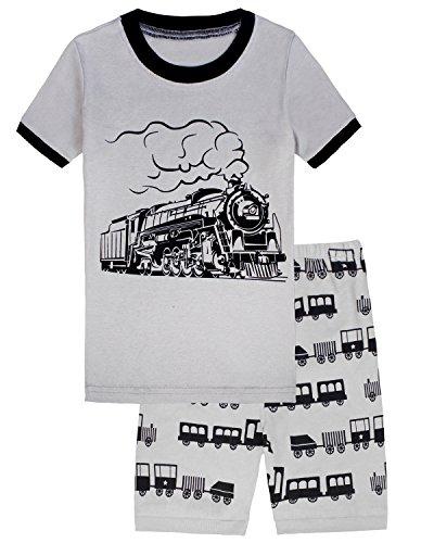 Boys Pajamas Short Pajamas 100% Cotton Train Toddler Kids Pjs Sleepwear Set 4T