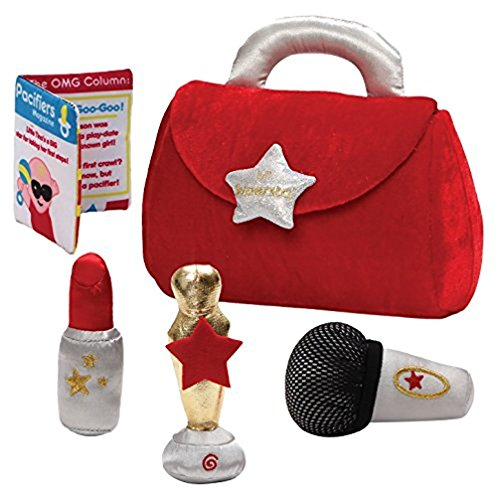 Gund Baby Plush Baby Purse Playset, My Lil Super Star (Pal Rattle)