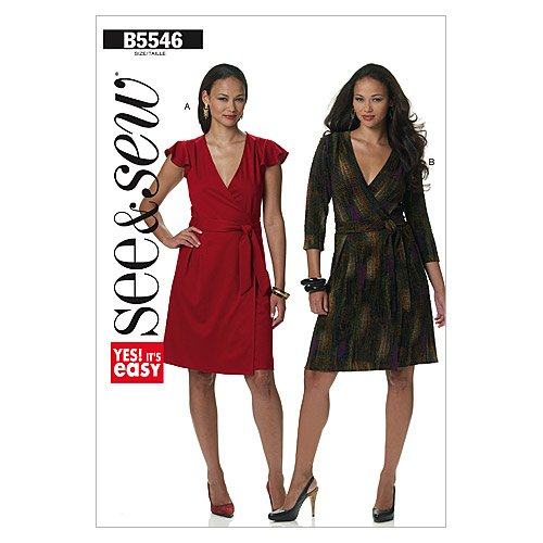 Butterick Patterns B5546 Misses' Dress, Size B (16-18-20-22-24) by BUTTERICK PATTERNS   B005QSTK2A