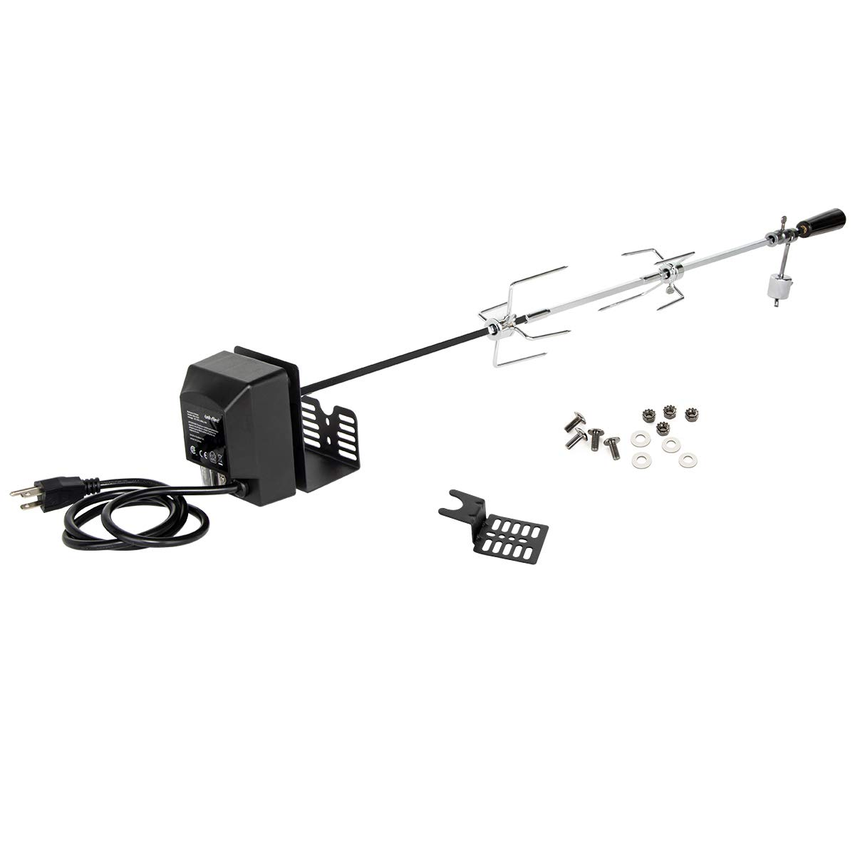 Onlyfire Universal Rotisserie Kit 32''- 42'' x 5/16'' Square Spit Rod for Use with 2 to 4 Burners Gas Grill by only fire
