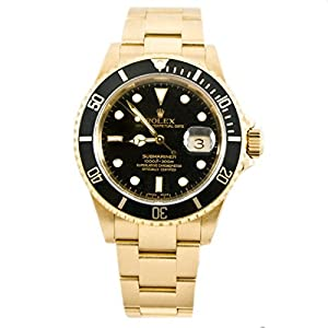 Rolex Submariner automatic-self-wind mens Watch 16618YSR (Certified Pre-owned)