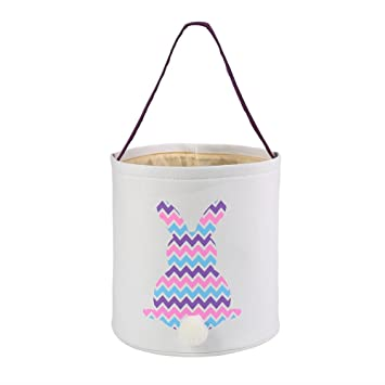 Amazon e firstfeeling easter basket easter bunny bag easter e firstfeeling easter basket easter bunny bag easter hunt bag for gifts toys multicolor negle Choice Image
