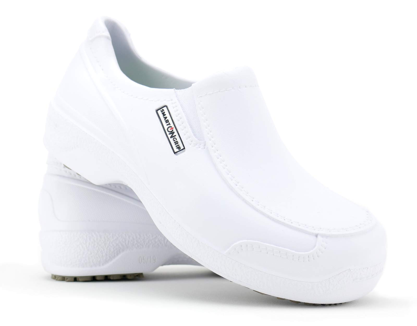 Safety Toe Shoes - Non Slip Waterproof Professional Composite Toe Shoes for Women (6, White)