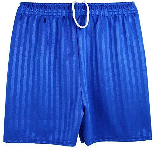 Boys Girls Unisex Shadow Stripe Gym Sports Football Games School PE Shorts (Small (4-5 Years), Navy) by Kentex Online