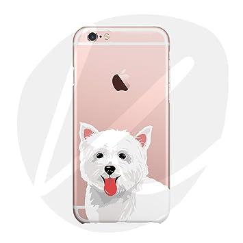 (Sleeping bear) Apple iPhone 6/6s Funda Carcasa,Pequeño Animal Perro Lindo De La Historieta TPU Silicona Caso Funda Cover Carcasa+Cuerda de ...