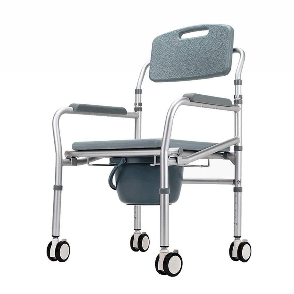 pliable Chaise percée avec abattant WC et seau de bain