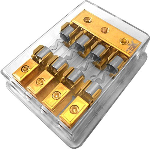 100a Agu Fuse (Jex Electronics 4/Quad/4X AGU In-Line Fuse Holder Distribution Block Stereo/Audio/Car 30A-100A)