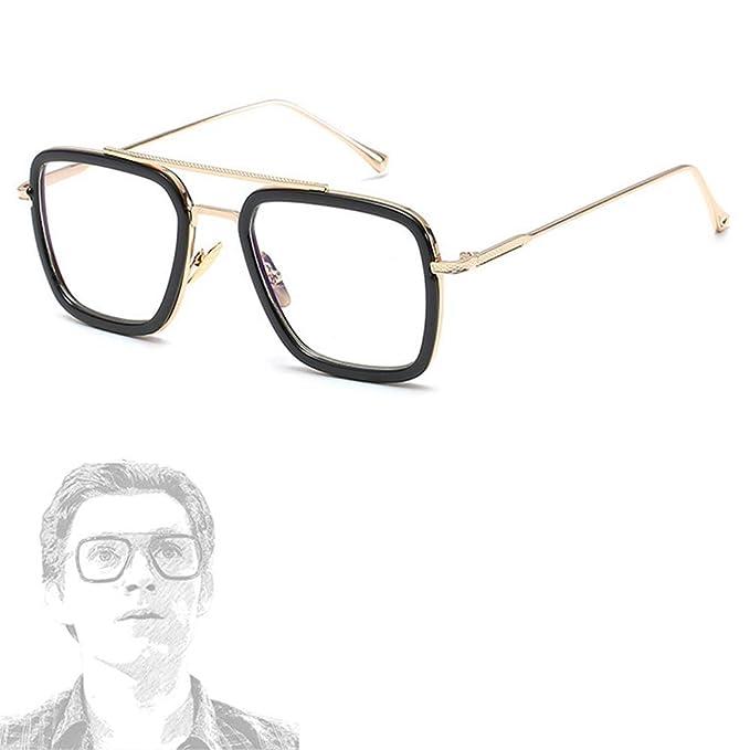Amazon.com: Gafas de sol retro cuadradas de aviador para ...