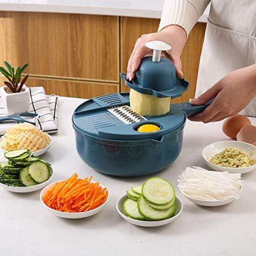 Küchen-multifunktions-zerhacker Nach Hause Gemüse- Und Obstscheiben-artefakt-küchenhaushalts-schneidwerkzeug, Blau