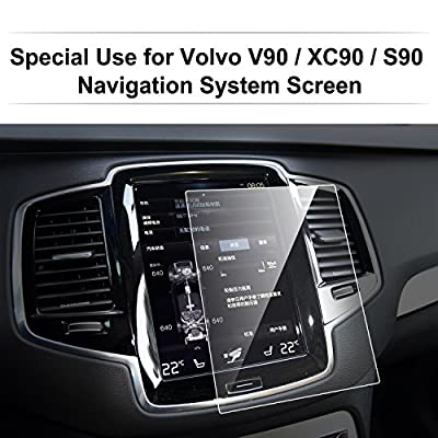 Volvo V90 / XC90 / S90 Car Navigation Screen Protector,LFOTPP [9H Hardness] Tempered Glass In-Dash Screen Protector Center Touch Screen Protector Anti Scratch High Clarity