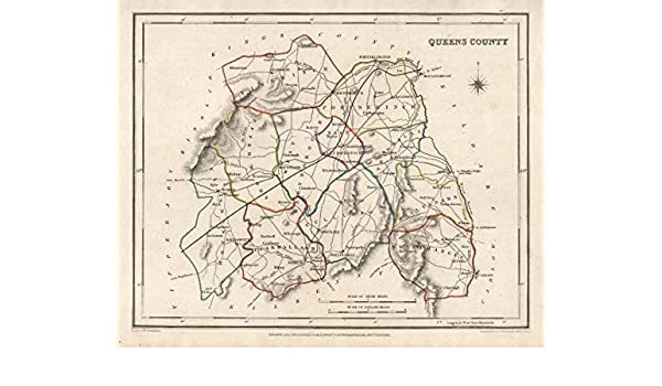 Amazon.com: QUEENS COUNTY (LAOIS) antique map for LEWIS ... on