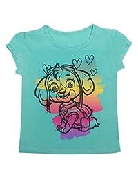 "Paw Patrol - Little Girls ""Skye"" Ruffle Sleeve T-Shirt, Bermuda"