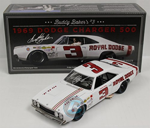 Amazon Com Buddy Baker Autographed 3 1969 Dodge Charger 500 1 24