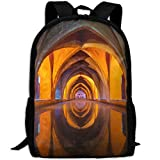 Water Architecture Colourful Reflection Church Fashion Outdoor Shoulders Bag Durable Travel Camping Backpack For Adult