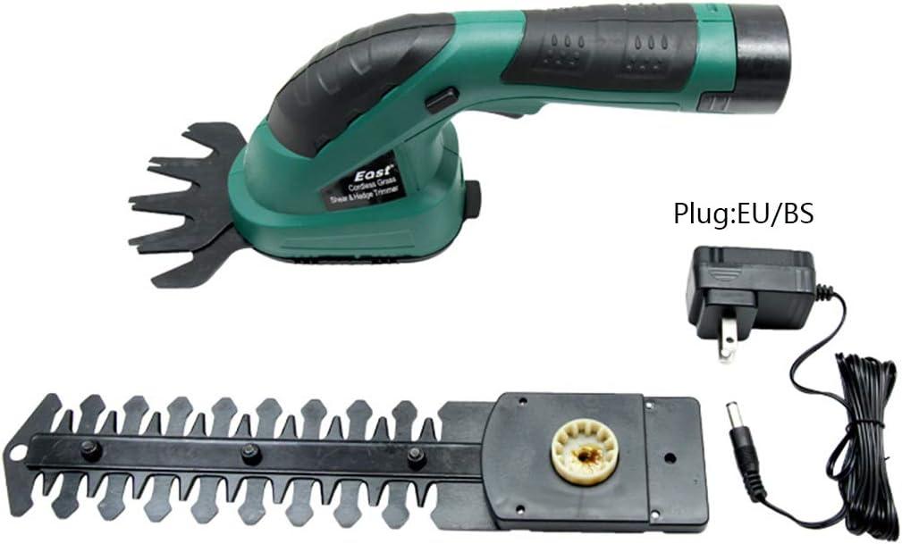 FPTB Sin Cable eléctrico Shearer Cortasetos portátil Hierba y arbustos Cortasetos y Cortador Recargable 7.2V batería Ligera para Gardening árbol frutal