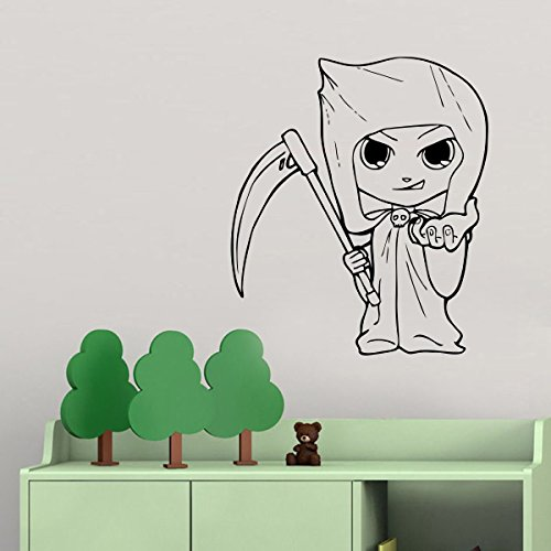 Little Girl in Costume Grim Reaper Vinyl Wall