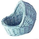 "Willow Cradle Baby Shower Boy Basket in Blue - 7.5""L..."