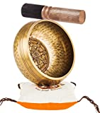 TANTRA SOUNDS~Tibetan Singing Bowl Set – Sound Bell for Meditation, Yoga and Chakra Healing. Buddhist 4.5'' Zen Bowls with Striker, Cushion & Bag, Made in Nepal Includes Gift Ebook by Email
