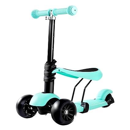 Amazon.com: QFFL Pignhengche - Patinete con tres ruedas para ...