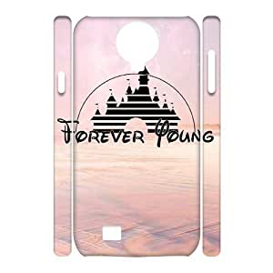 Forever Young Unique Design 3D Cover Case for SamSung Galaxy S4 I9500,custom cover case dagongsi591208