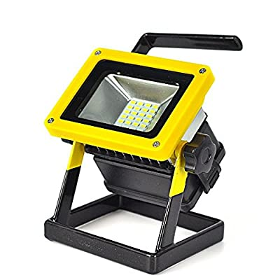 Irontria Portable Rechargeable Cordless 24 LED Work Light Flood Light, Durable Waterproof Emergency Light, Trouble Light Stand for Car Traveling Camping, Fishing, Floodlight