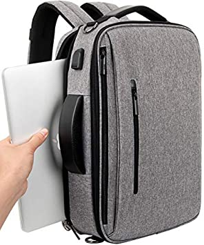 SLOTRA Mochila Ordenador Portatil Bolsa Antirrobo Impermeable 15.6 Pulgada para Viaje Oficina Escolares Negocios Trabajo con USB: Amazon.es: Equipaje