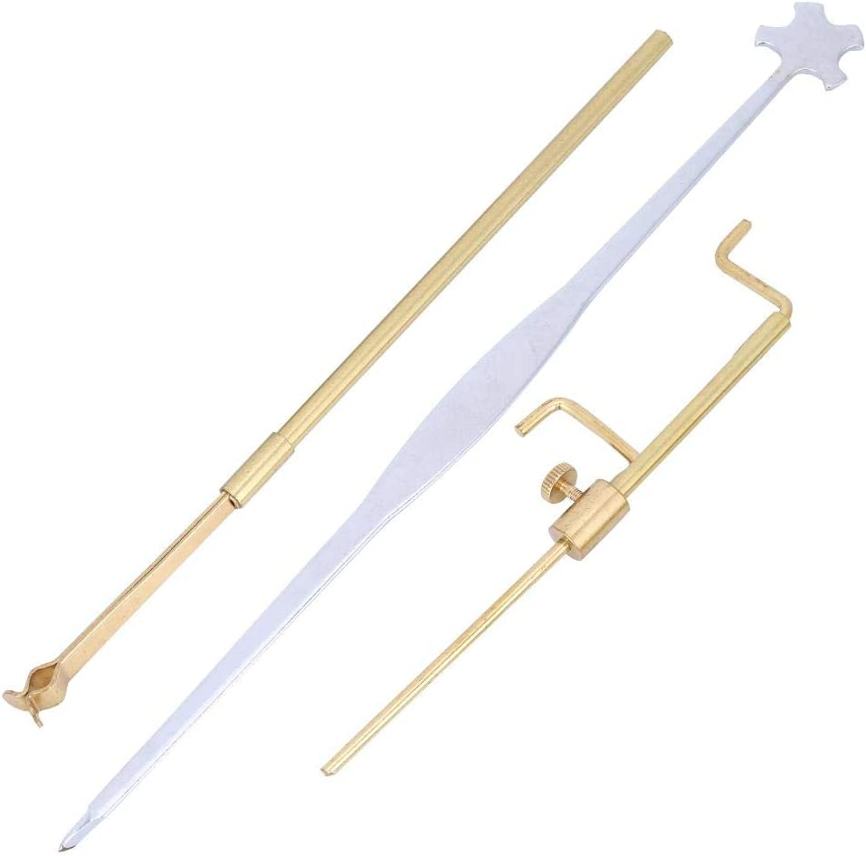 Violin Sound Post Gauge Violin Repair Set Fashion Style Economy Long-Lasting Brass Charmful Appearance Beginner for Music Education