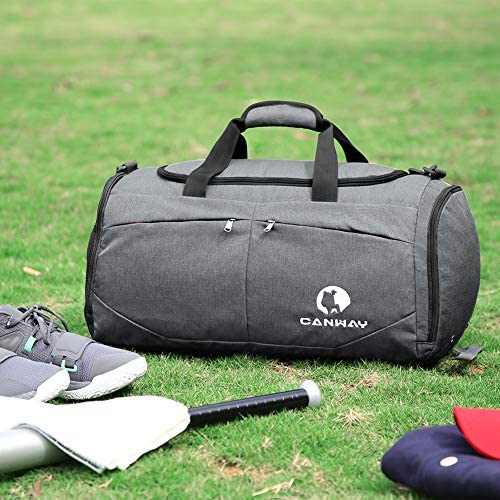 Canway Sports Gym Bag, Travel Duffel bag with Wet Pocket & Shoes Compartmentfor males ladies, 45L, Lightweight