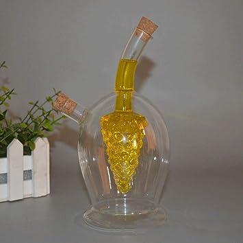 Boller Kitchen Supplies Glass Olive Oil Bottle Distributor Grapes 2 In 1 Kitchen Supplies Glass Oil And Vinegar Bottles With Soy Sauce Vinegar Bottle Amazon De Kuche Haushalt