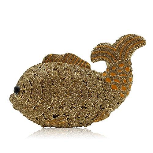 Señorita Goldfish Favoritos Rhinestones Monedero Bolsa de noche E