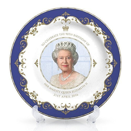 Queen Elizabeth Dinner (Queen Elizabeth II 90th Birthday Plate 8 (20cm) - 21st April 2016 Bone China by)