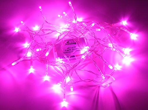Pink Christmas Decorations - Karlling Battery Operated Pink 40 LED Fairy Light String Wedding Party Xmas Christmas Decorations(Pink)