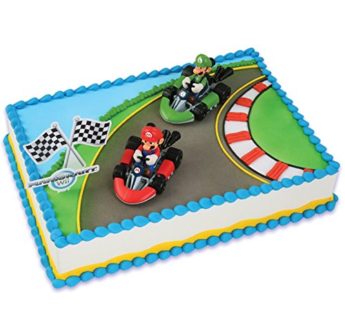 Price comparison product image Mario Kart Wii Cake Topper (4 Pieces)