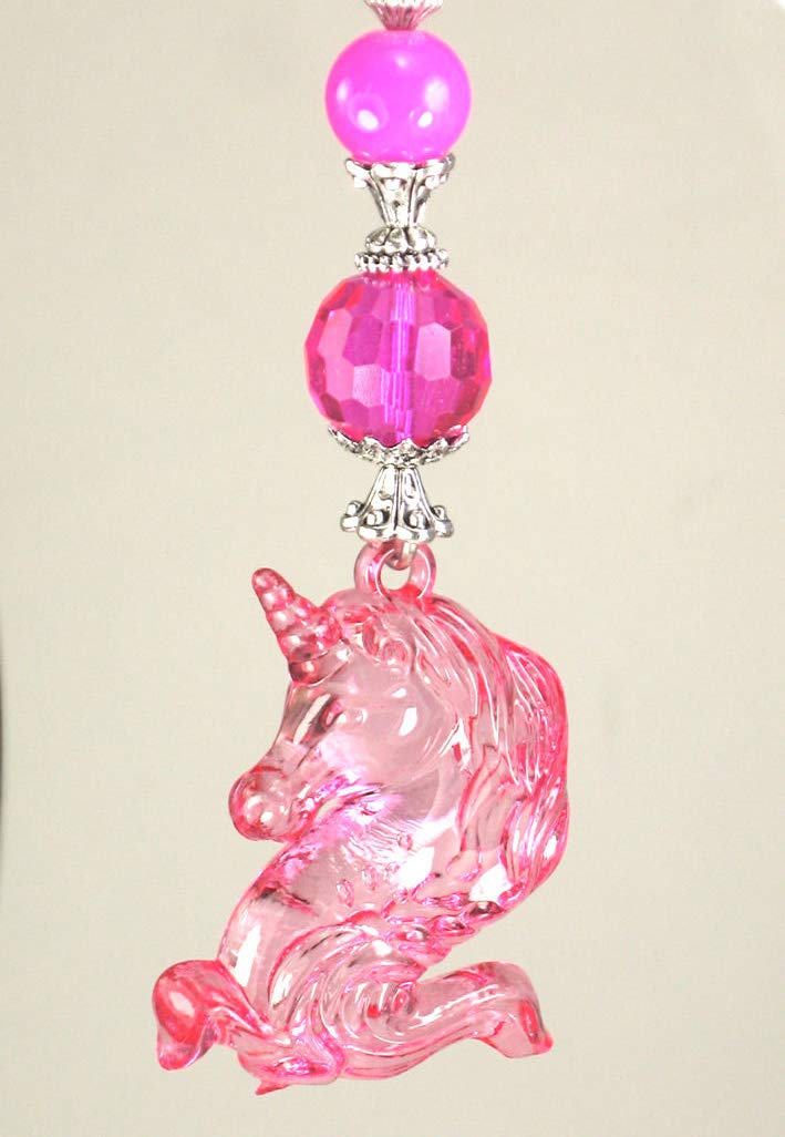My Pretty Pink Unicorn with Faceted Glass Ceiling Fan Pull