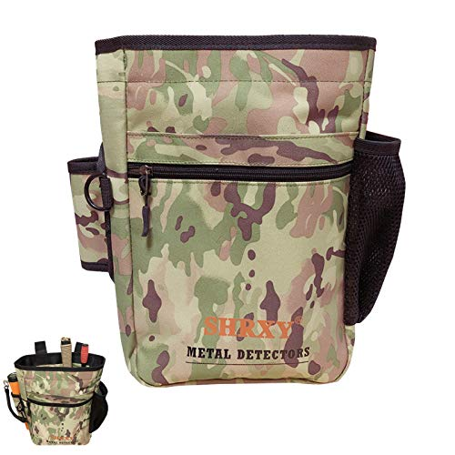 shrxy Metal Detecting Finds Bag Waist Digger Pouch Tools Bag for PinPointer Garrett Detector Xp ProPointer Accessories ... (CAMO)