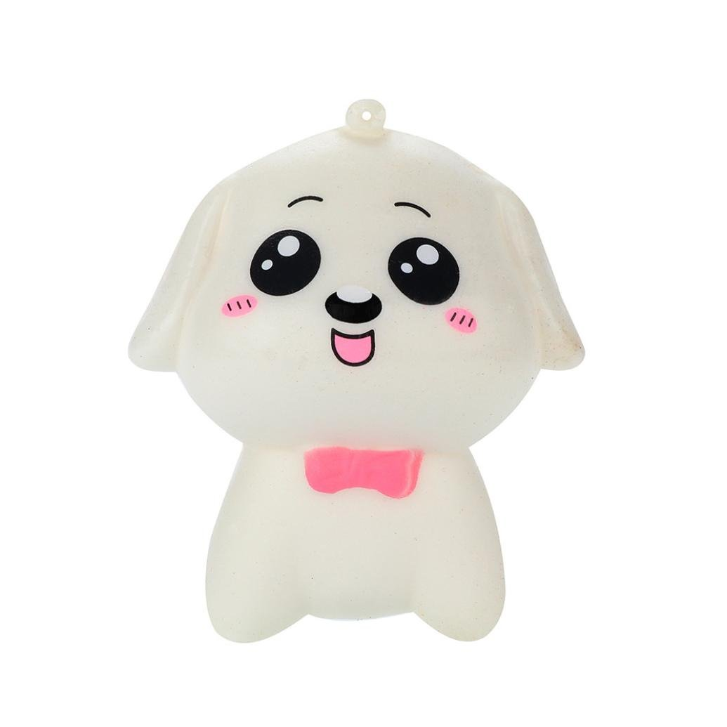 callm Slow Rising Squishies Dog with Bowknot Squishy Slow Rising Kawaii Mini Squishies Cream Scented Charms Stress Reliever Toys for Kids and Adults (pink bowknot)