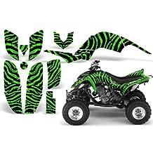 CreatorX Yamaha Raptor 660 Graphics Kit Decals Stickers Zebra Camo Green