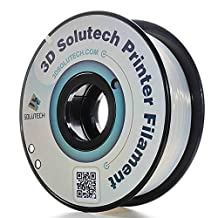 3D Solutech Printer Filament, Natural Clear PLA, 1.75MM Filament, Dimensional Accuracy +/- 0.03 mm, 2.2 LBS (1.0KG) - 100% USA Plastic Filament