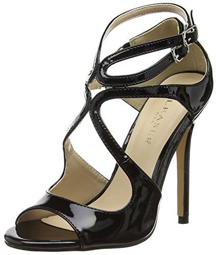 PleaserAmu15/b - Zapatos de Tacón mujer Negro - Schwarz (Schwarz (Blk Pat))