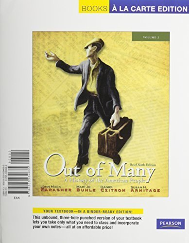 Out of Many, Volume 2, Books a la Carte Plus MyHistoryLab (6th Edition)