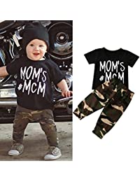 Ec Newborn Baby Boy Letter O Neck T shirt Tops Camouflage...