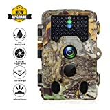 Digital Hunting Trail Camera Wildlife Easy Capture Outdoor Picture Waterproof 1080P 120 Degree PIR Lens 65ft Triggering Distance 0.2s Toggle 0.6s Trigger Time Game Trail Camera Recorder SD Card 8G