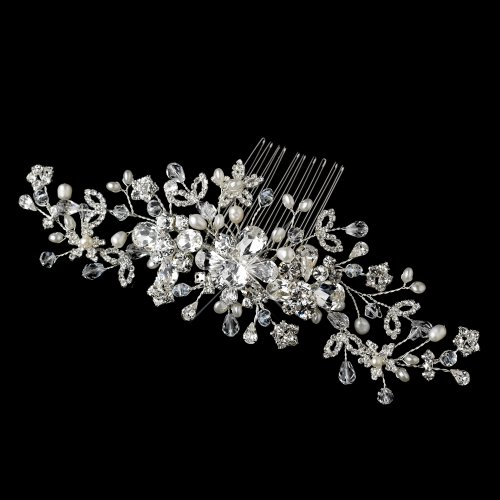 Beira Freshwater Pearl, Crystal & Rhinestone Wedding Bridal Special Occasion Comb by Special Moments LLC