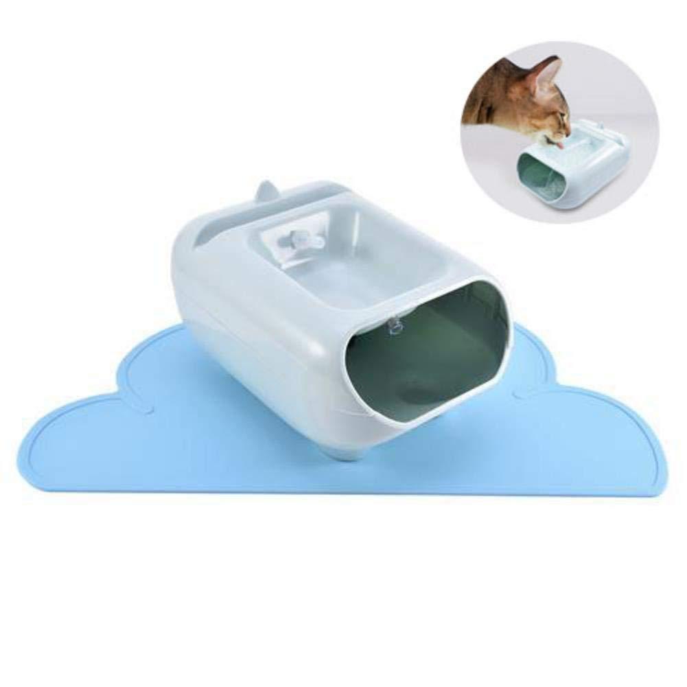 AUTOECHO Fuente de Agua para Perros y Gatos Drinkwell Multi-Tier de con tapete Impermeable - Fuente de Agua para Mascotas para Perros y Gatos pequeños y ...
