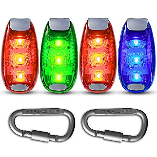 LED Safety Light Strobe Lights for Nighttime Runners, Cyclists, Walkers, Joggers, Kids, Dogs, Best Flashing Warning Clip on Small Reflective Set Flash Walk Night High Visibility (Free Bonuses)]()