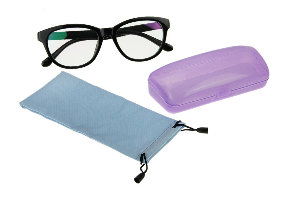 Starsource Fashion Unisex Black Unmagnified Computer Glasses Plain Eyeglasses Anti-reflective ,Anti-glare ,Clear Lens, Uv Protection Reading Glasses