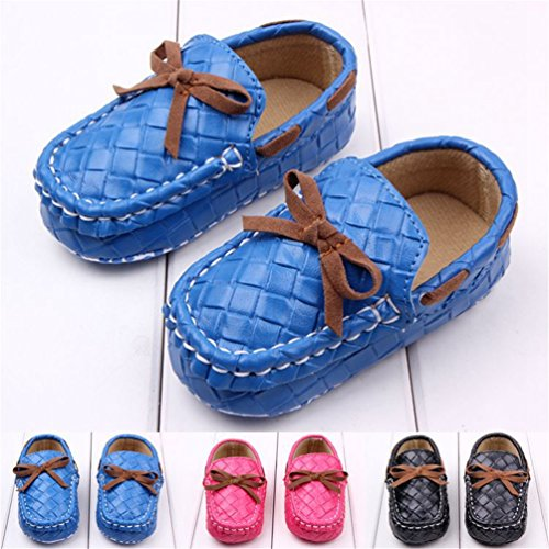 Amazon.com | Femizee Baby Boy/Girls Moccasins Bowknot Soft Mocs ...