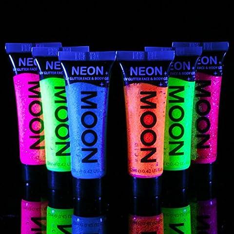 Moon Glow - Blacklight UV Glitter Face