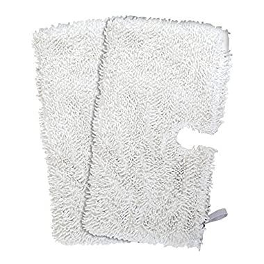 Flammi 2pcs Replacement Pads for Shark Steam Pocket Mops S3500 series, S3601, S3550 and S3901 Household Microfiber Dust Pads Cleaning Pad(12.5*7inches,White)