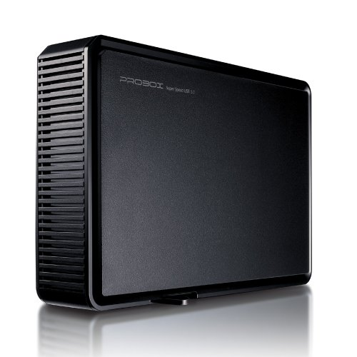 Mediasonic ProBox K32-SU3 3.5'' SATA Hard Drive Enclosure - USB 3.0 SuperSpeed, Optimized for UASP & SATA 3 6.0Gbps hard drive transfer rate by Mediasonic